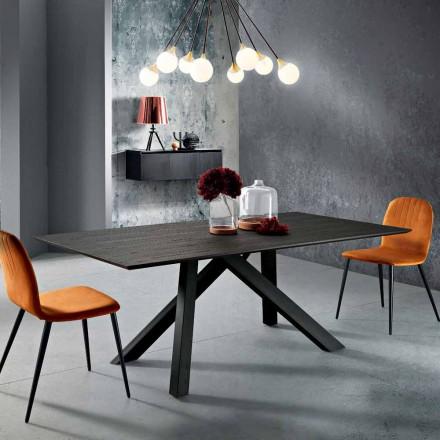 Matbord i MDF trä och metall tillverkad i Italien, Wilmer