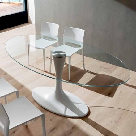 Köksbord i härdat glas och marmor Tillverkad i Italien, lyx - Brontolo