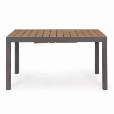 Utdragbart utomhusbord Upp till 200 cm med topp i teak - Bobelfinish