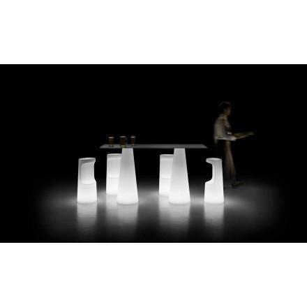 Design utomhusbord med lysande bas med LED-lampor Tillverkad i Italien - Forlina