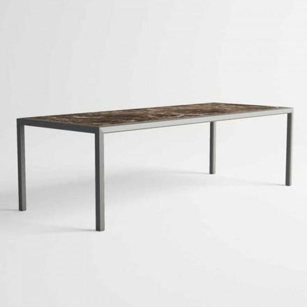 Utomhusbord i aluminium för modern design för trädgård - Mississippi2
