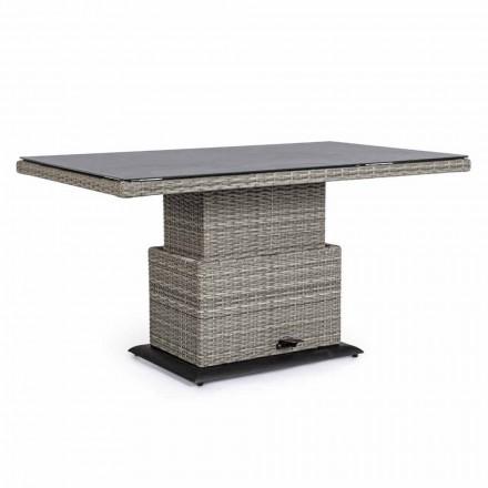 Utomhusbord i keramik och syntetfiber, justerbar höjd - Claire