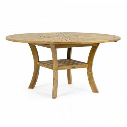 Teak utomhusbord med vridbar central topp, Homemotion - Dimitris