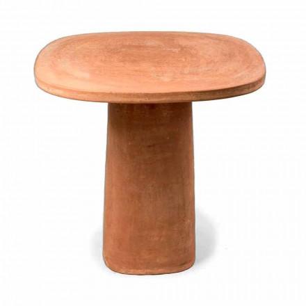 Fyrkantigt Terracotta utomhusbord 70x70 cm Tillverkat i Italien - Yulia