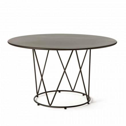 Runt modernt utomhusbord i målad metall tillverkad i Italien - Ibra