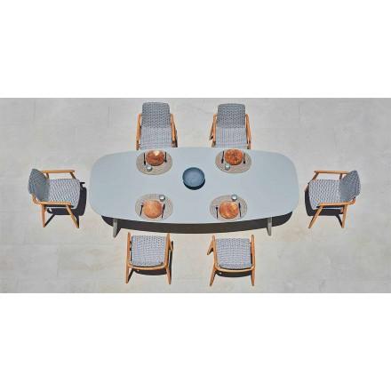 Varaschin Ellisse design utomhusbord i färgat aluminium