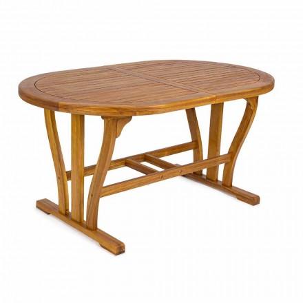Utdragbart trädgårdsbord Upp till 200 cm ovalt i trä - Roxen