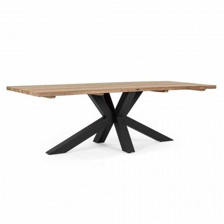 Trädgårdsbord med topp i teakträ av Homemotion - Cowen Design