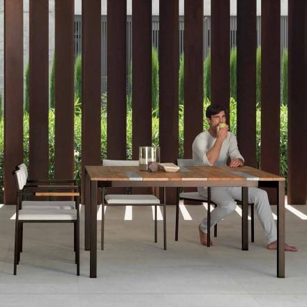 Casilda Talenti trä och rostfritt stål trädgårdsbord 150x150 cm