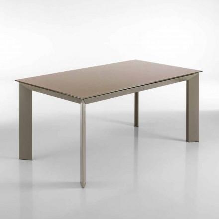 Matbord utdrag duva gray Pardo, H76 x90 x160 (220) cm