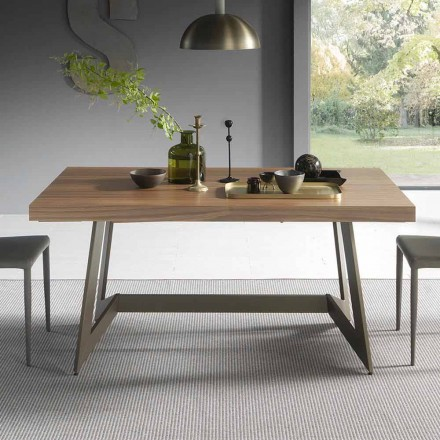 Utdragbart matbord Upp till 160 cm i trä tillverkat i Italien - Eugenia