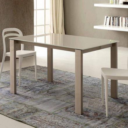 Utdragbart matbord Upp till 204 cm i Made in Italy Crystal - Palladio