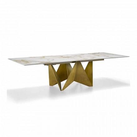 Lyxigt utdragbart bord Upp till 294 cm i Made in Italy Marmor Stengods - Makro