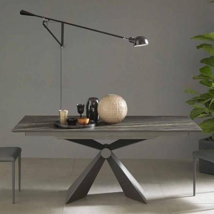 Utdragbart matbord Upp till 298 cm i keramik tillverkat i Italien - Anaconda