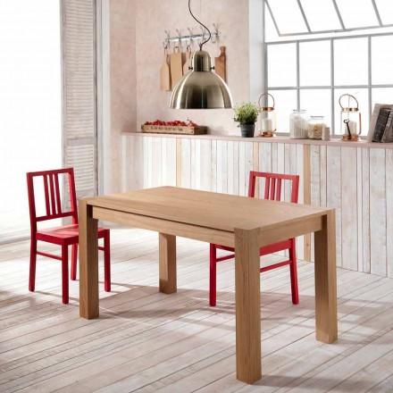 Extensible matbord i ek Phaedrus, tillverkad i Italien