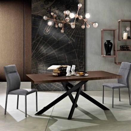 Utdragbart matbord i melamin trä gjord i Italien, Dionigi