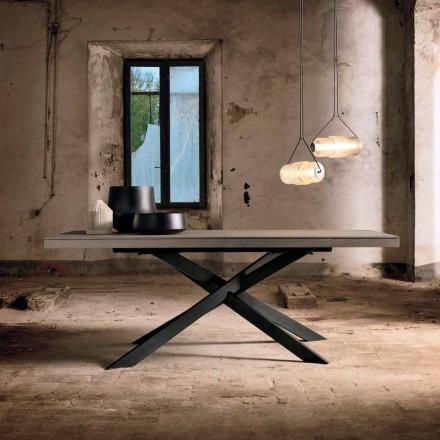 Utdragbart matbord i ekträ L315cm tillverkat i Italien Oncino