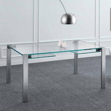Utdragbart matbord i Extralight glas och metall tillverkat i Italien - Sopot