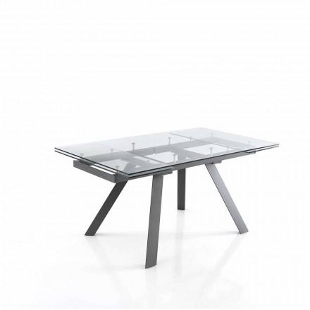 Matbord utdragbart upp till 240 cm i glas - Basilea