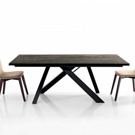 Utdragbart matbord i glaskeramik tillverkat i Italien, Wilmer