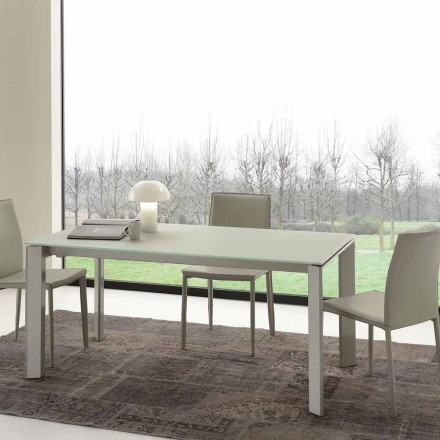 Utdragbart matbord, härdat glasskiva - Faleria