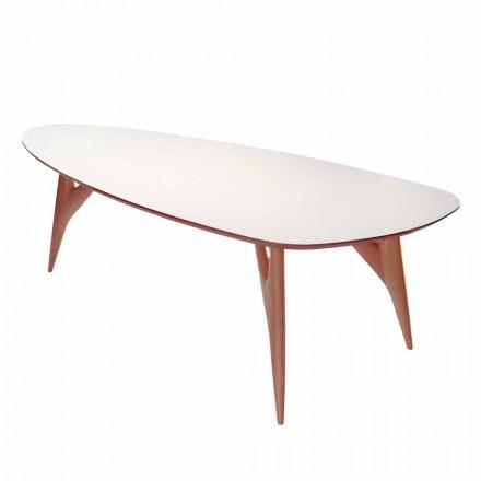 Matbord, handgjorda, i HPL och massiv mahogny tillverkad i Italien - ek