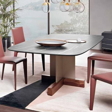 Matbord med keramikskiva tillverkad i Italien - Bonaldo korsbord