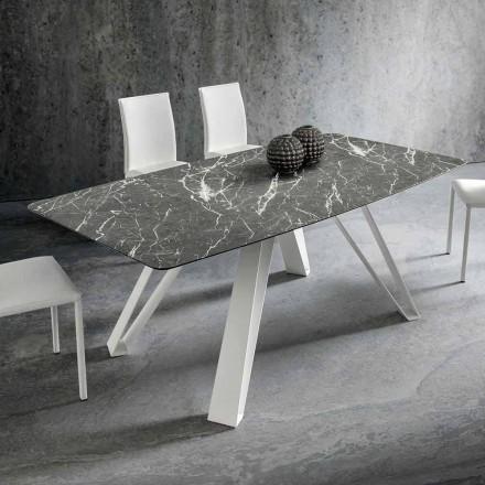 Matbord med Hpl-topp och metallbas Tillverkad i Italien - Aresto