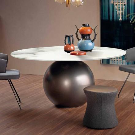 Matbord med rund topp i matt marmor Tillverkad i Italien - Bonaldo Circus