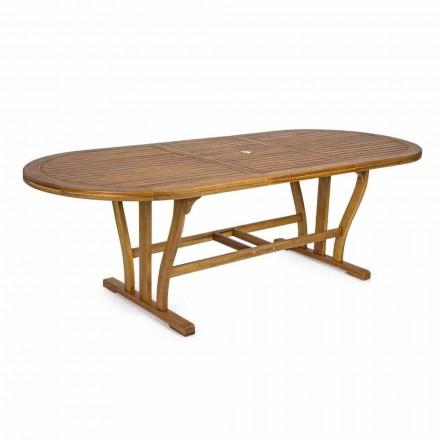 Utdragbart matbord utomhus upp till 240 cm i trä - Kaley
