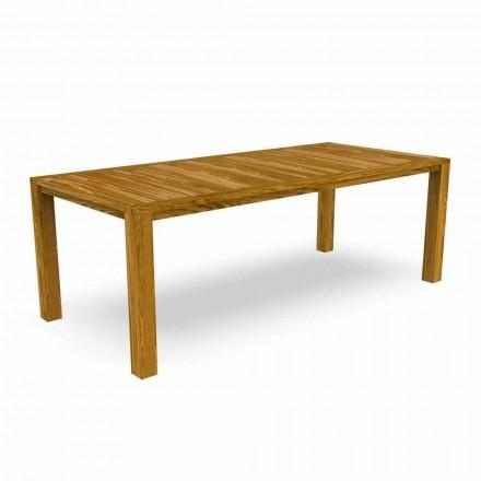 Modernt trädgårdsmatbord i kastanjeträ - Ebi av Talenti