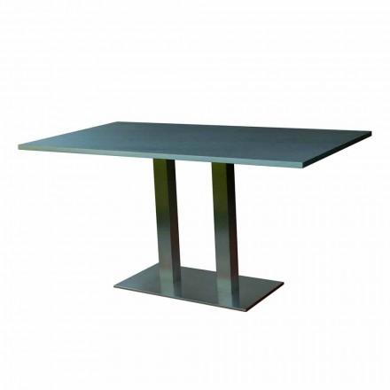 Design matbord med laminerad sten topp, 160x90cm, Newman