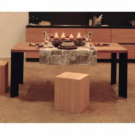 Design matbord i naturlig valnötdesign, L200xP100cm, Yvonne