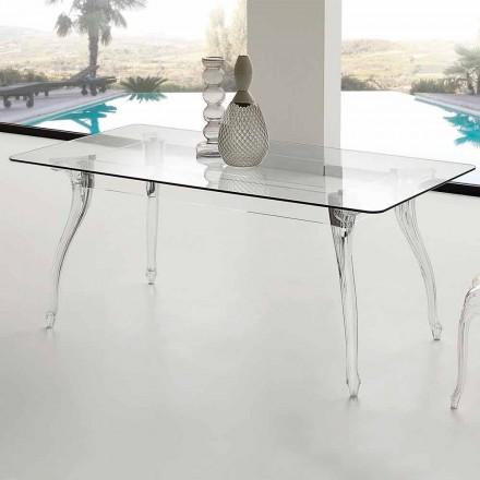 från modern design Matbord med härdat glasskiva Jinny