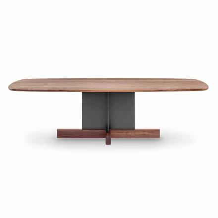 Design matbord med tvärbas tillverkat i Italien - Bonaldo korsbord
