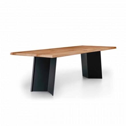 Design matbord med knuten ekskiva tillverkad i Italien - Simeone