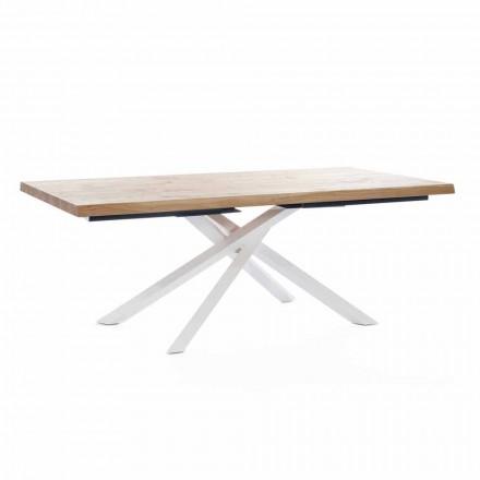 Design matbord i trä och metall tillverkat i Italien - skeppare