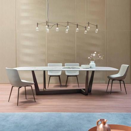 Spisbord av brons i keramik och metall tillverkat i Italien - Art