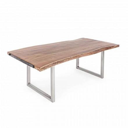 Homemotion Matbord i Acacia-trä och rostfritt stål - Convo
