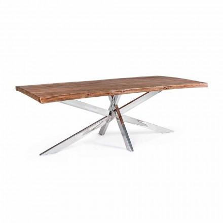 Homemotion Design Matbord i rostfritt stål - Kaily