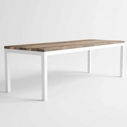 Modern design utomhus trä och aluminium matbord - Ganges