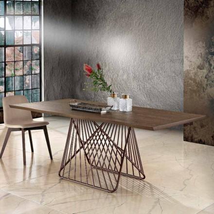Modernt matbord i massivt trä gjord i Italien