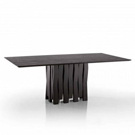 Design matbord i MDF trä gjord i Italien, Egisto