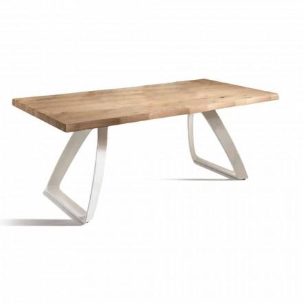 Matbord i metall och fanerad ek tillverkad i Italien - Aryssa