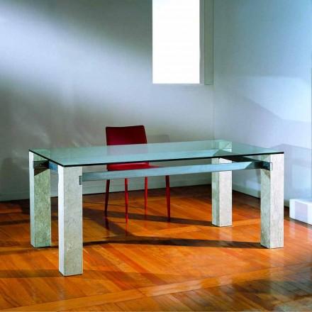 sten matbord och glas modern design EBEA