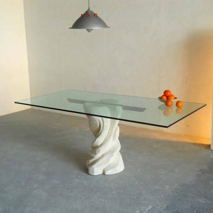 sten matbord och glas modern design Uranus