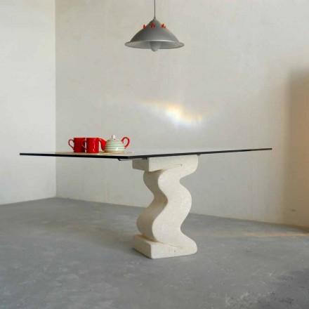 sten matbord och moderna designen kristall Anteros