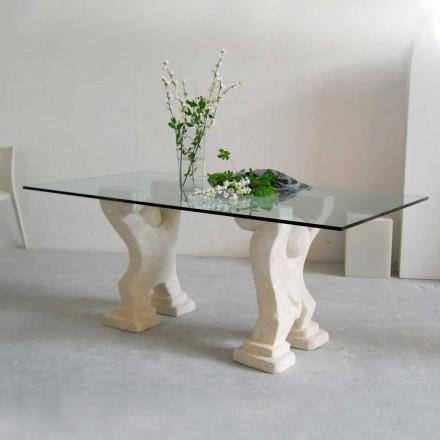 Sten matbord och modern design crystal Medusa