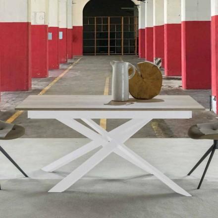 Modernt utdragbart matbord, laminerad topp - Marliana
