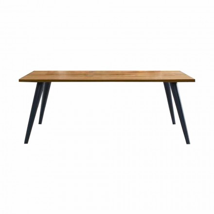 Modernt matbord med träplatta och bas tillverkad i Italien - Motta